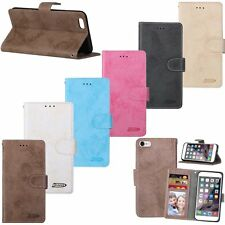 Flip Leather Wallet Cards Stand Photo Frame Case Cover For iPhone 5 5s 6 6s Plus