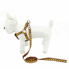 Pet Harness Leash Set Dog Cat Walking Lead Puppy Harness Brown Pet Supplies