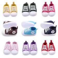 0-12M Toddler Boy Girl Baby Soft Sole Crib Shoes Kid Sneakers Canvas First Shoes