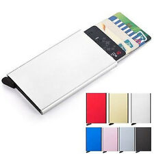 Luxury Aluminum ID Credit Card RFID Storage Protect Holder Wallet Box Organizer