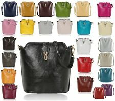 LADIES FAUX LEATHER SHOULDER BAG CROSS OVER-BODY MESSENGER BAG SADDLE HANDBAG