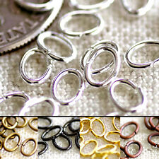 Wholesale Bronze Silver Black Plated Brass Oval Jump Ring 3.5x5mm 22gauge m75