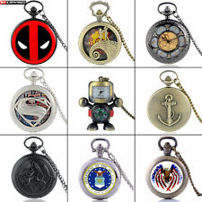 Antique Necklace Chain Quartz Retro Steampunk Pocket Watch Pendant Vintage Gift