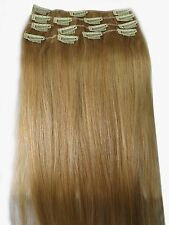 "12""-32""Remy Human Hair Clips In Extensions 75g-140g #18 Lightest Golden Blonde"