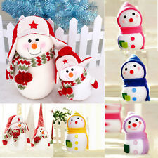 Cute Christmas Snowman Doll Shop Home Decoration Xmas Tree Hanging Ornament Gift