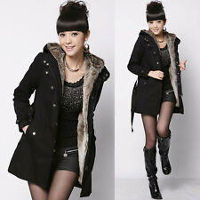 Winter Womens Thicken Warm Coat Hood Parka Overcoat Long Jacket Outwear