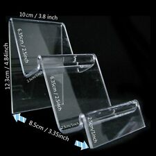 New 2-Tier Clear Retail Fashion Shop Display Stand Handbags Purse 9 cm Width