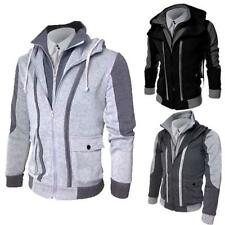 New Mens Slim Fit Long Sleeve V-neck Hoodie Shirt Casual T-Shirt Hooded Tee Tops