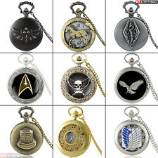 Antique Vintage Steampunk New Quartz Penant Pocket Watch Retro Necklace Men Gift