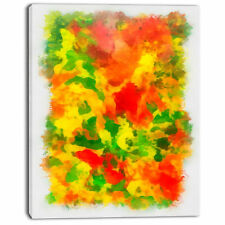 'Colorful Hand-drawn Floral Background' Painting Print on Wrapped Canvas