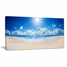 'Beautiful Tropical Beach Panorama' Photographic Print on Wrapped Canvas