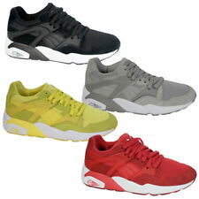 Puma  Lightweight  Future Mens Trainers Yellow Red Grey Black Lace Up 360135