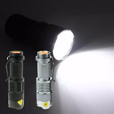 New SK68 Q5 Model Zoomable 1500 lumens LED Flashlight Torch Cree Lamp Outdoor TB