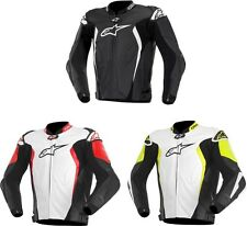 New Alpinestars GP Tech leather motorcycle street biker jacket Black Yellow Red