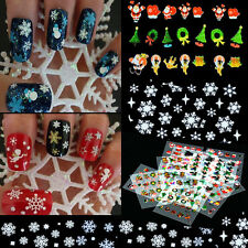 Christmas Snowflake 12 Sheet Nail Art Stickers Tips Decoration Decal Manicure