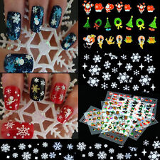 12 Sheet Christmas Snowflake Present Nail Art Sticker Decal Tips Decoration DIY