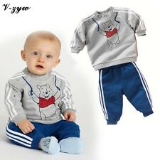 Autumn Baby Boy Girl Clothes Long Sleeve Top Pants 2pcs Sport Suit Baby Clothing