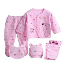 5pcs/set Newborn Baby 0-3M Clothing Set Brand Baby Boy Girl Clothes 100% Cotton