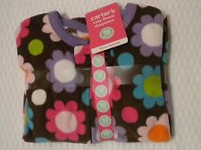 NWT CARTERS 18 MONTHS GIRLS FLEECE FOOTED FOOTY FEETY PAJAMAS FLOWERS