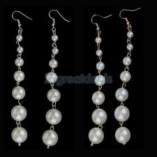 Newest Design Pearls Drop Long Earrings for Woman Wedding Gift Wholesale Jewelry