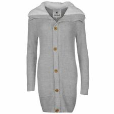 SoulCal Womens Sherpa Collar Knit Cardigan Jumper Long Sleeve Button Front Top