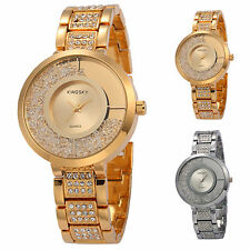 Fashion Crystal Lady Women Quartz Gold Alloy Luxury Gift Wrist Watch Bracelet