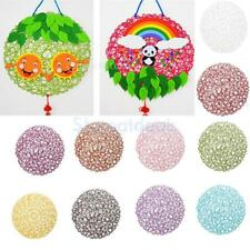 Round Lace Paper Wedding Xmas Decorations Kids DIY Dinner Table Mat Placemat