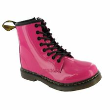 Dr Martens DELANEY 15382670 Girls Junior Lace-up Boot in Pink Patent