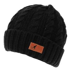 Kangol Mens Cable Knit Beanie Hat Snow Winter Warm Accessories