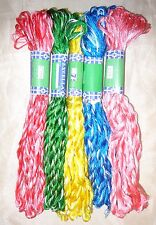 NEW VARIEGATED SILK EMBROIDERY THREAD 5 SKEINS 400 mts CRAFT PROJECT S13 #38U2S