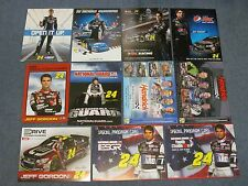 34  DIFF NASCAR POSTCARDS/HANDOUTS JEFF GORDON  1996'-2015'