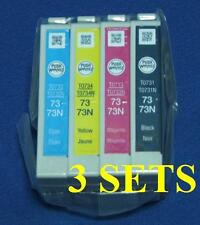12x GENUINE EP SON INK CARTRIDGES 73N T0731N TX100 TX101 TX102 TX103 TX105 TX110