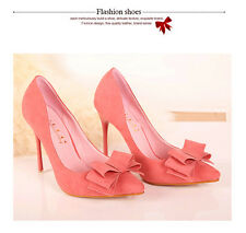 Elegant Women's Stiletto High Heels Pointed-toe Party Shoes Pumps Sweet Bowknot