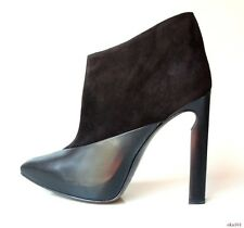 new $1195 JIMMY CHOO 'Diad' black leather suede ANKLE BOOTS - super sexy