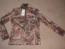 NWT Womens Large Under Armour Coldgear 1/2 Zip Pullover Top Realtree Camoflauge