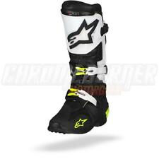 Alpinestars Tech 10 Black White Motorcycle Boots, Tech-10, NEW!