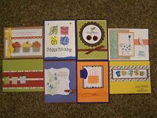 8 Handmade Birthday/Thinking of You Cards w/ envelopes-Stampin' Up! & more