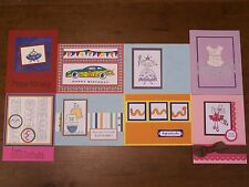 8 Handmade Child-Boy/Girl Birthday/Greeting Cards w/envelopes-Stampin Up & more