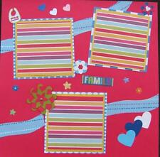 "TWO 12""X12"" PREMADE SCRAPBOOK PAGES ""I LOVE MY GRANDMA & GRANDPA"" KID'S PAGE"