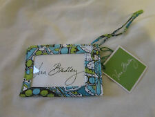Vera Bradley LUGGAGE TAG PEACOCK BLUE Travel ID Card Holder Gift Tourquoise