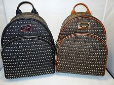 Michael Kors Jet Set Small Studded Signature Pvc & Leather Backpack 2 Colors