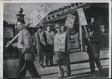 1952 Press Photo steel workers on strike in front of their plant - nec24467