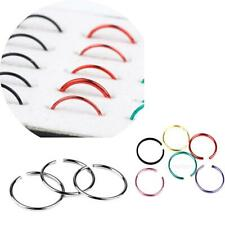 Lot of 40pcs Stainless Steel Nose Studs Hoops Body Piercing Rings