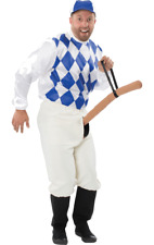 Adult Mens Knob Jockey Costume Funny Racing Fancy Dress Stag Outfit