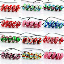 Fashion SILVER MURANO GLASS BEADS LAMPWORK Fit European Charm Bracelet Jewelry