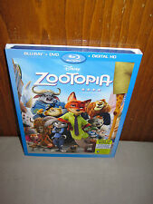"""NEW! Disney Animated Movie """"Zootopia"""" Blu-Ray, DVD and Digital HD! Sealed!"""
