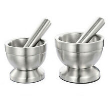 Stainless Steel Mortar and Pestle Set Kitchen Garlic Pugging Pot Pharmacy BowlLA
