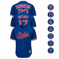 1994 Chicago Cubs MAJESTIC Official Cooperstown Blue Away Cool Base Jersey Men's