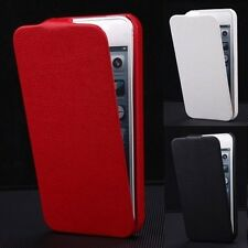 Luxury Leather Cover Vertical Flip Fitted Pouch Case For Apple iPhone 5/5S/SE Y