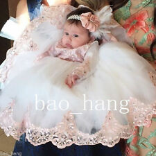 Hot Toddler Baby Baptism Christening Gown First Communion Dresses Custom Made